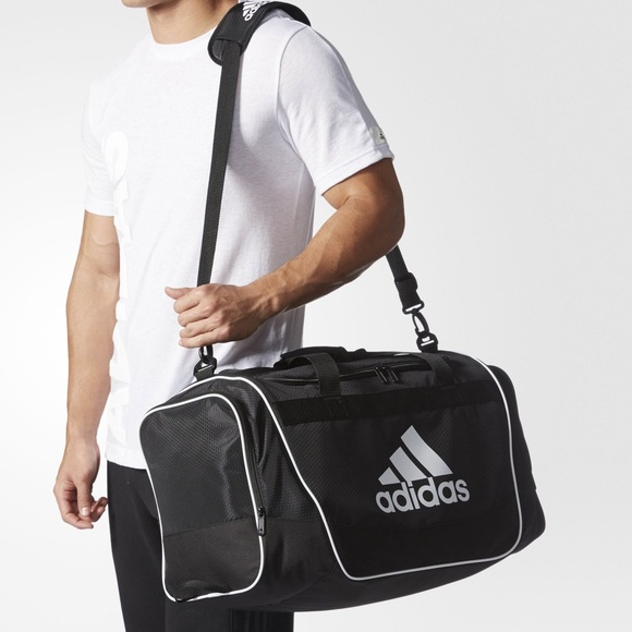 adidas Other - Adidas defender 2 black and silver duffel bag 799fb34bb5c4b